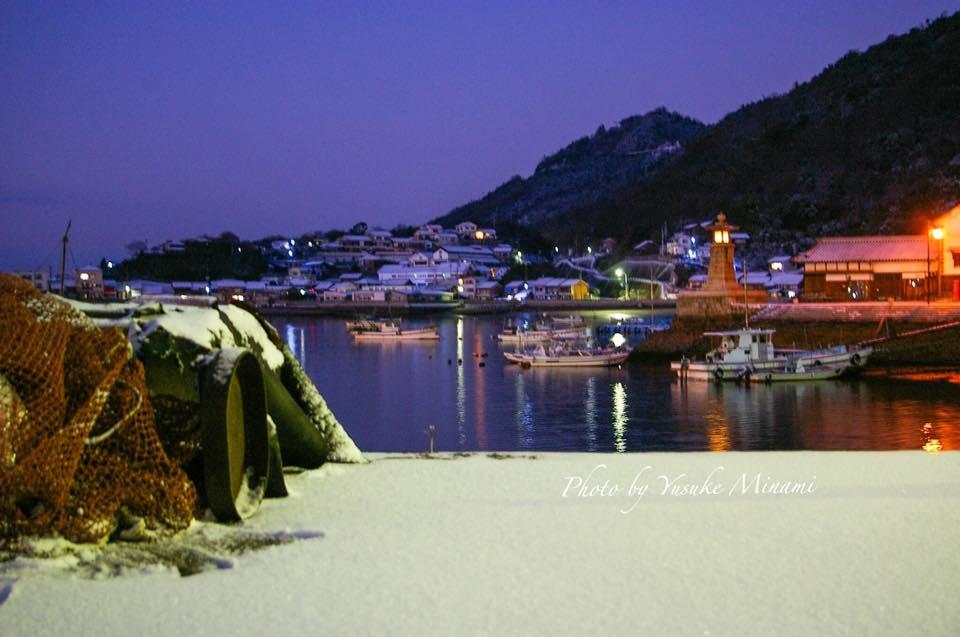 【鞆の浦雪の夜明け】鞆港~雪積もる鞆港~/広島県福山市鞆の浦