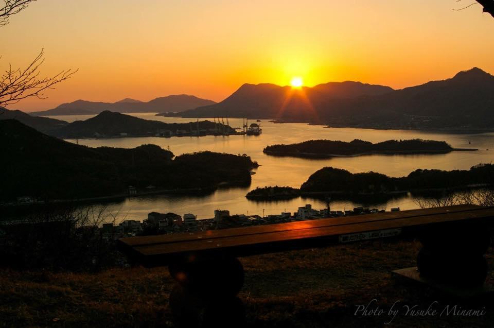 【因島夕日スポット】 因島公園からの風景~夕景のしまなみ海道~/広島県尾道市