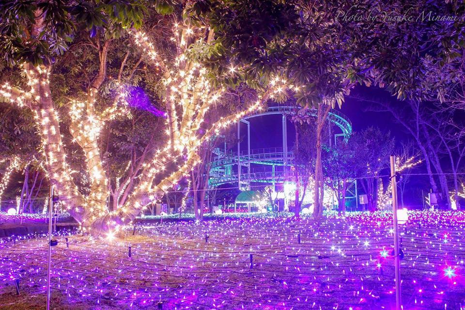 【イルミネーション】~ 音と光の遊園地~三世代テーマパークみろくの里2016/広島県福山市
