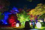 【広島城ライトアップ】チームラボ光の祭、お絵描き武将たちがオススメ!/広島県広島市