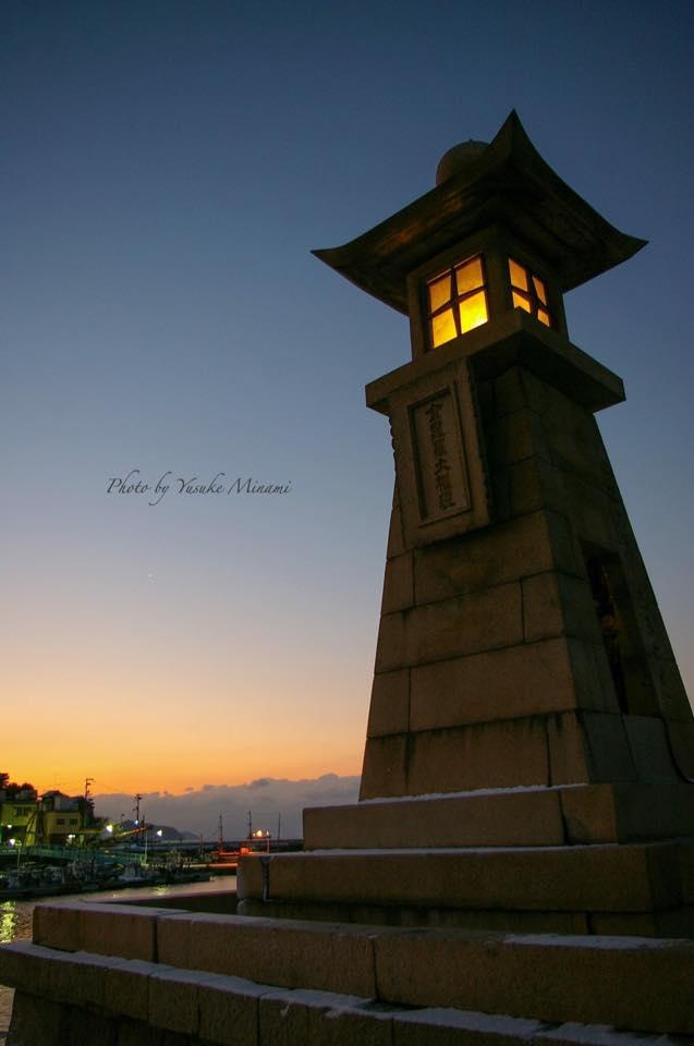 鞆の浦~雪の常夜灯~