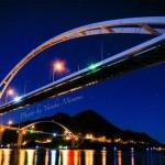 【夜景】 星空と内海大橋~福山のレインボーブリッジ~/広島県福山市沼隈町