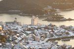 【福山市雪の風景】  鞆の浦、雪景色写真/広島県福山市