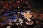 【庄原市雪景色】!雪景色と花火がコラボしたひばの里!!/広島県庄原市