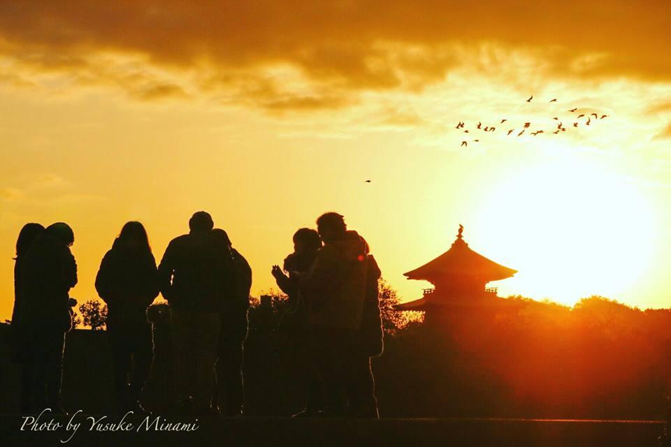 お正月元旦の福山市、お出かけ撮影スポット(初日の出、初詣、初日の入り)めぐり/広島県福山市